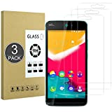 E-Hamii [3 Piezas Vidrio Templado Inastillable 9H Compatible con Wiko Rainbow Jam(4G),Protector de Pantalla[Cristal HD Claro]de 0.33 mm para Wiko Rainbow Jam(4G)