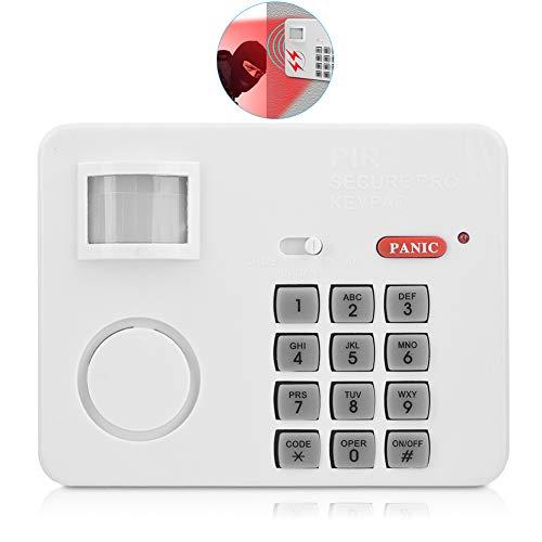 Sistema de Alarma, PIR Movimiento Incorporado Contraseña de Alarma de Sensor de Movimiento, 5 Metros Rango de Detección Teclado Detectores, Infrarrojos Remotos con Botón de Pánico