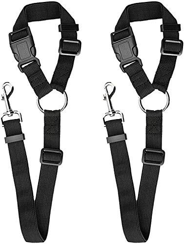 2 Pack Pack Dog Coche Arneses Cinturón De Seguridad, Cuerda De Seguridad Del Automóvil De La Mascota De NylonAjustable, Para El Viaje Al Aire Libre Para La Recogida De SUV Y El Automóvil (color: Rosa)