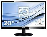 Philips Monitores 200V4LAB2/00 - Monitor de 19.5' (resolución 1600 x 900 pixels, tecnología WLED, contraste 1000:1, 5 ms, VGA, 200 cd/m² , altavoces), color negro (Reacondicionado)