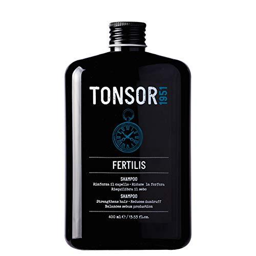 Tonsor 1951 Fertilis, Shampoo detergente per Uomo, specifico per uso quotidiano seboregolatore ad azione delicata, adatto a tutti i tipi di capelli, 400 ml (Assortito)