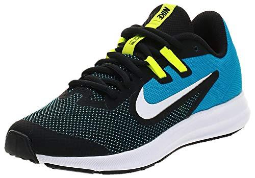 Nike Downshifter 9 (GS), Scarpe da Corsa Unisex-Bambini, Nero (Black/White/Laser Blue/Lemon Navy...