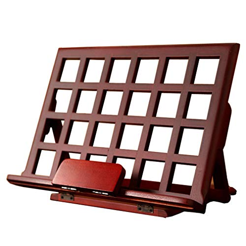4 Angles Adjustable Bamboo Tablet Holder - Save Space - Lightweight And Portable Strong And Sturdy Wooden Reading Book Support Stand For Office, Family, Travel, Etc