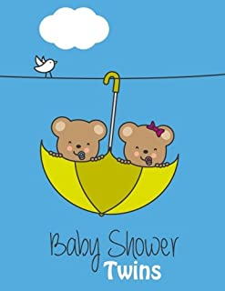 Baby Shower Twins: Baby Shower Guest Book Sign In, Free Layout to Use as You Wish for Names & Addresses, or Advice, Wishe...