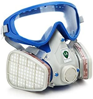 Full Face Respirator Gas Mask & Goggles Comprehensive Cover Paint Chemical Pesticide Mask Dustproof Fire Escape