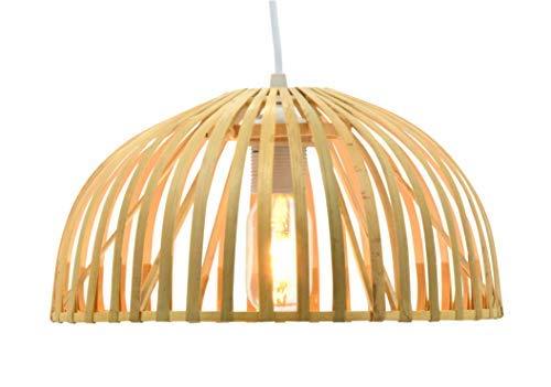 Luminaire Hanoi 30 - Lámpara colgante de bambú, 60 W, natu