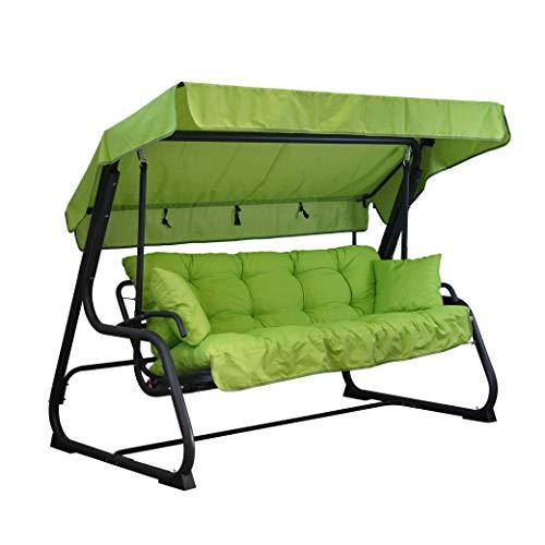Tecnoweb Coussins pour balancelle 4 places, coussin de toit assorti de rechange inclus, 100 % fabriqué en Italie, idéal pour l'extérieur (jardin et cours) - Cadre non inclus citron vert