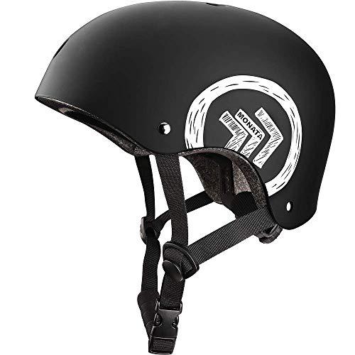 MONATA Skateboard Bike Helmet, Skate Scooter Helmet for Youth Adults Teens, Multisport Roller Skating Skateboarding Cycling Scooter Longboarding Rollerblading
