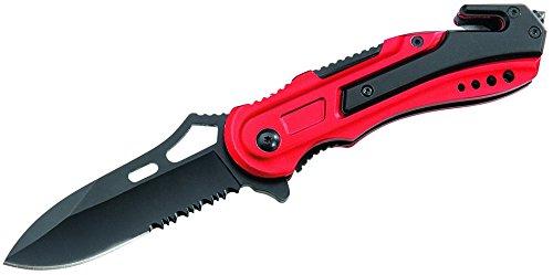 ATK Messer Rettungsmesser Aluminium-Griffschale Länge geöffnet: 20.0cm, grau, M