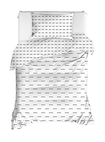 Best Class Pościel prążkowana % 100, zestaw poszewek na kołdrę, bez płaskiego materiału, 160 x 220 cm (2 szt.)