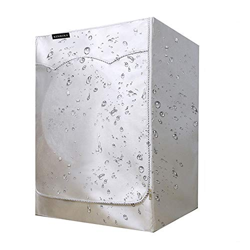 Lavadora Funda Protectora,Funda de Lavadora Cubierta Impermeable,Funda Secadora Carga Frontal Cubierta Impermeable (60 X 55-64 X 85 cm) tela Oxford 420D de tamaño ajustable