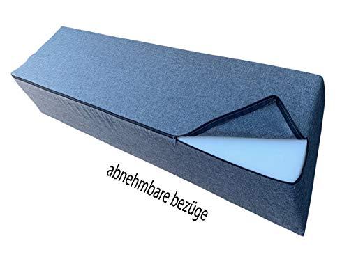 Pillows24 Palettenkissen 8-teiliges Set | Palettenauflage Polster für Europaletten | Hochwertige Palettenpolster | Palettensofa Indoor & Outdoor | Erhältlich Made in EU | Graphit - 6