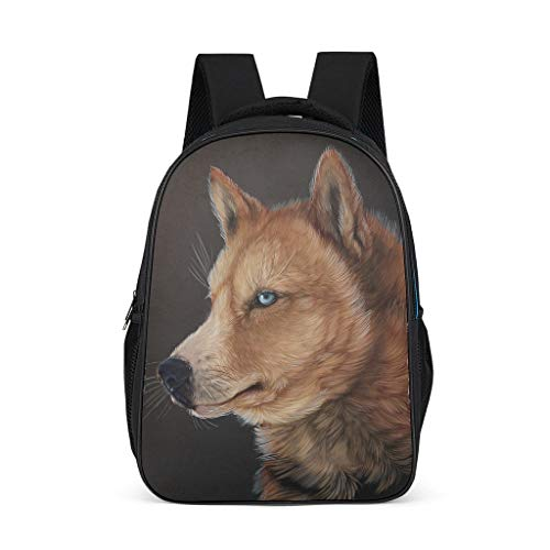Cyliyuanye Animal Wolf Durable Kids' Backpack School Book Bag For kids Adults Gift For Boys Girls bright gray onesize