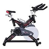 Vélo d'Appartement ergomètre Sportstech SX400 - Marque allemande de qualité - Video Events & Multijoueur APP, volant d'inertie 22KG, compatible avec les ceintures pulsées - eBook inclus