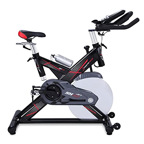 sportstech Exercise Bike Ergometer SX400with Smartphone App Control + Google Street View, Inertia Weight 22kg, Arm, Heart Rate Monitor, Silent, Max. 150kg