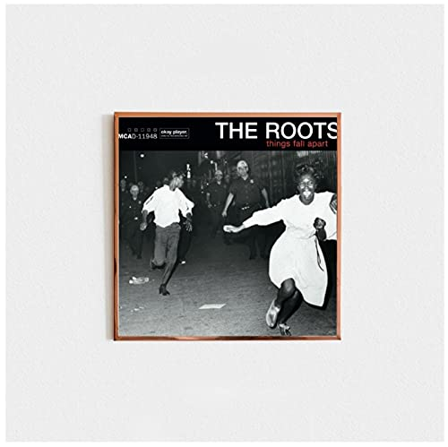 Bxygml The Roots-Things Fall Apart Music Album Cover Canvas Poster Home Wall Painting Decor wall art for office-60x60cm No Frame
