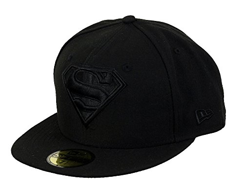 New Era DC Comics Basecap Superman Black Black/Black - 7-56cm