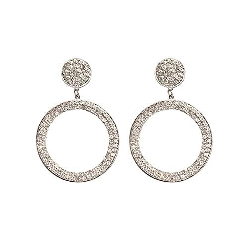 Pendientes colgantes de circonita cúbica de lujo pendientes coreanos de cristal de moda para mujer regalo de aniversario joyería para niña