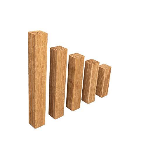 Universal Eckblock Ecke ECKTURM Eckstab für EICHE Sockelleisten GEÖLT (Eckturm PREMIUM (mit Fase), 65 mm Höhe)