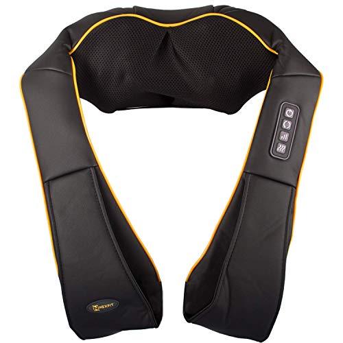 Nexfit Massagegerät Nacken Schulter Rücken Shiatsu Nackenmassagegerät mit Wärmefunktion Nackenkissen Rückenmassagegerät mit Heizfunktion 3 einstellbaren Geschwindigkeiten zur Muskelschmerzlinderung