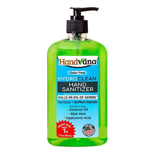 Handvana HydroClean Gel Hand Sanitizer - Alcohol-Free Kills...