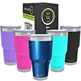 CHILLOUT LIFE 30 oz Stainless Steel Tumbler with Lid & Gift Box | Double Wall Vacuum Insulated Large...