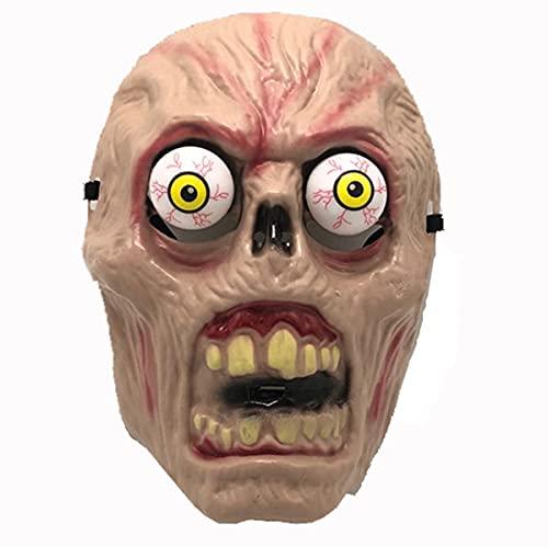 Qiwenr Máscara terrorífica de Halloween de demonio sonriente, cabeza de adulto, casco de látex terrorífico, disfraz de payaso terrorífico