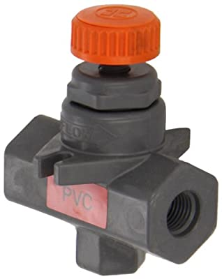 "Hayward PVC Needle Valve, Globe Body, FPM Seal, 1/4"" Threaded from Hayward"