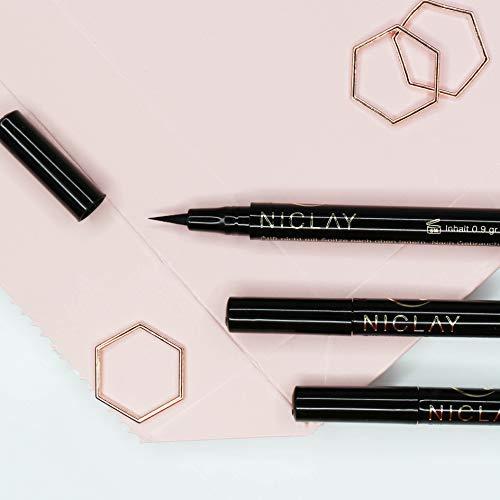 NICLAY Eyeliner für Wimpernverlängerung, ölfrei, wasserlöslich, deep-black, eyelash extensions