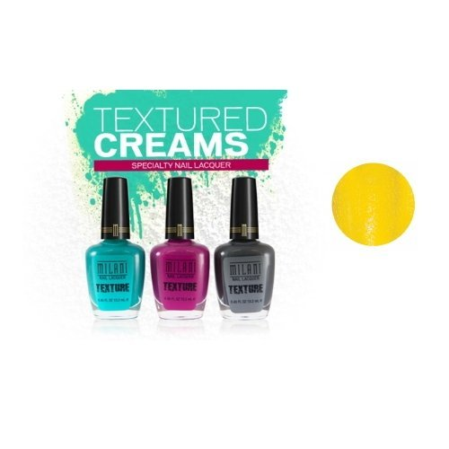 Milani Texture Creams Specialty Nail Lacquer – Limited Edition Collection – Yellow Mark
