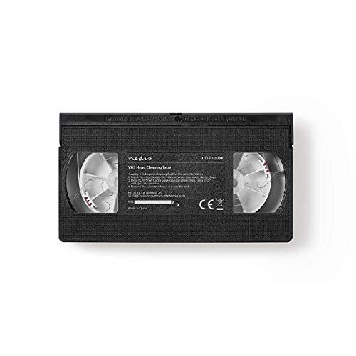 NEDIS Nastro di Pulizia per Testina VHS | 20 ml | VHS Heads | Nero Nero