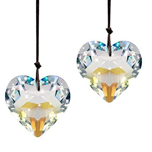 SunAngel Crystal Heart Prisms Pendants amp Chandelier Suncatchers Prisms Hanging Ornament Prisms Rainbow Crystal Pendants Clear