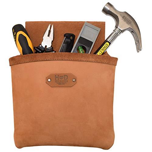 Hide & Drink, Ledergürteltasche mit großer Tasche, professionell, für Bausteller/Elektriker/Klempner, handgefertigt, inkl. 101 Jahre Garantie
