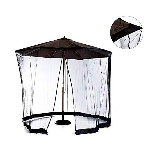 WYJW Mosquitera, Pantalla de Mesa para sombrilla al Aire Libre, jardín de Malla de mosquitera con Puerta con Cremallera y Malla de Malla de poliéster, Adecuado para sombrilla de Camping en Patio