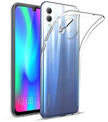 EIISSION Hülle Kompatibel mit Huawei Honor 10 Lite Hülle, Handyhülle Transparent Schutzhülle Kratzfest Silikon Schlank Weich Dünn Durchsichtige TPU Hülle Cover für Huawei Honor 10 Lite,Transparent