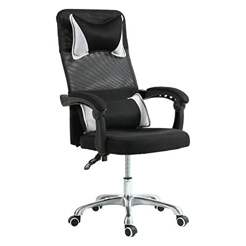 Masdkow Office Chair, Ergonomic Adjustable Lift-able Computer Chair, Headrest and Back Cushion Computer Desk Chair Swivel Office Desk Chair with Armrest