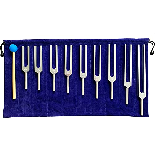 Solfeggio Tuning Fork Set - 9 Tuning Forks Perfect for DNA Healing, Chakra, Sound Therapy, Keep Body, Mind and Spirit in Perfect Harmony.(174 Hz, 285 Hz, 396 Hz, 417 Hz, 528 Hz, 639 Hz etc)