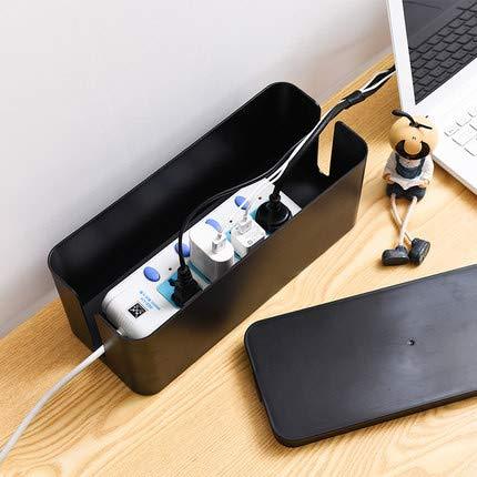 NeUrev - Cajas de gestión de cables (3 unidades), color negro ...