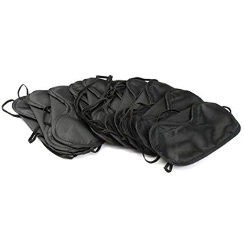 10 Augenmasken zum Schalfen Schlafmasken Schlafbrillen in Schwarz (10 eye mask)
