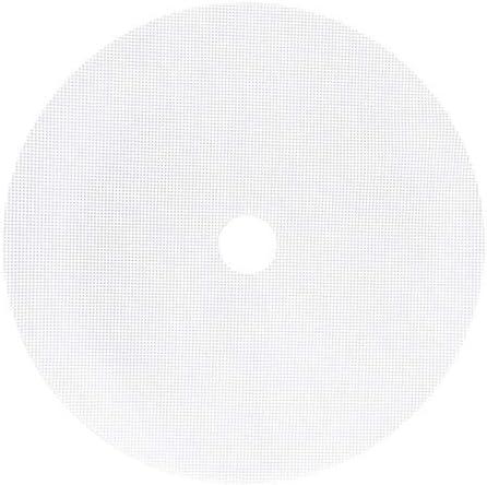 UKUCI 8 stuks ronde siliconen dehydrator vellen nietstick fruit dehydrator matten herbruikbare stoomboot mat mesh blad voor fruitdroger wit