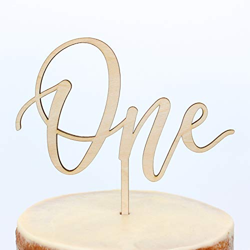 First Birthday Cake Topper for Smash Cake - One