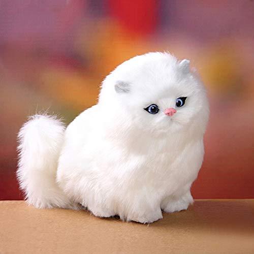 LAIYYI Simulation Plüsch Kätzchen Katze Kinder Nette Haustier Spielzeug Modell Elektrische Gefüllte Katze Puppen Plüschtier Baby Geburtstag Spielzeug Geschenk