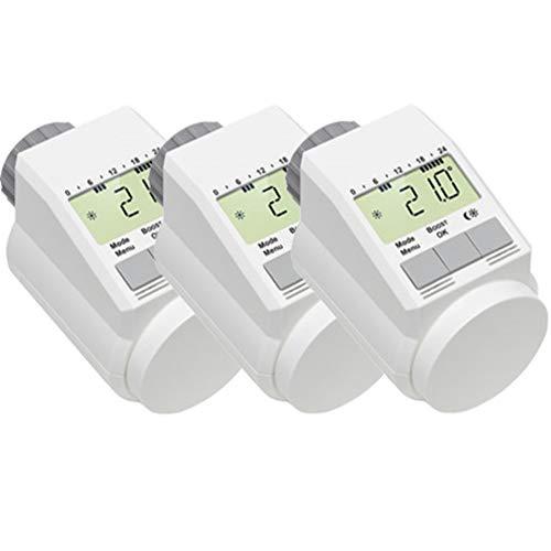 Eqiva Classic L Elektronik-Heizkörper-Thermostat mit Boost-Funktion, 3er-Set
