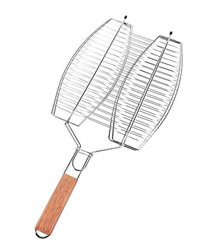 41+pCDZSu4L. SL500  - Grillkorb,gegrillter Fischclip Edelstahl Dickes großes Grillwerkzeug Grillzubehör