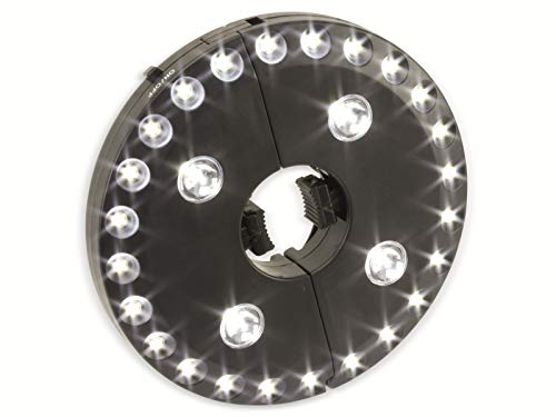 LED-Sonnenschirmbeleuchtung, WS-9812, schwarz