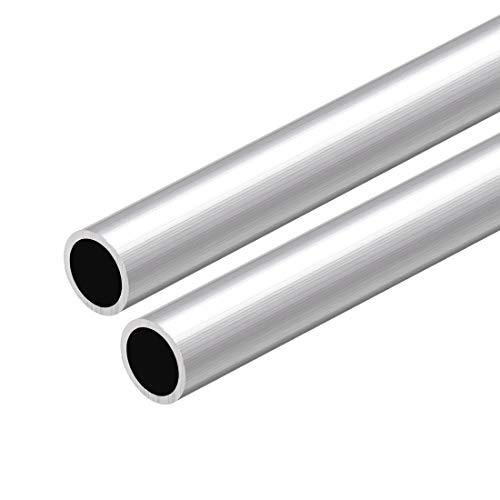 sourcing map 6063 Aluminio Redondo Tubo 300mm Longitud 16mm OD 5-15mm Diámetro Interior Sin Costura Aluminio Recto Tubería ID de 13 mm x OD de 16 mm, 2 piezas