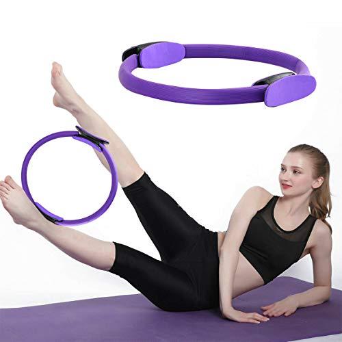 PROVO Yoga Aro Pilates, Anillo de Pilates con asaentrenamiento para Resistencia y Flexibilidad, Anillo Yoga Círculo Mágico para Fitnes Ring Pilates Círculo de Ejercicio Mágico para Quemar Grasa