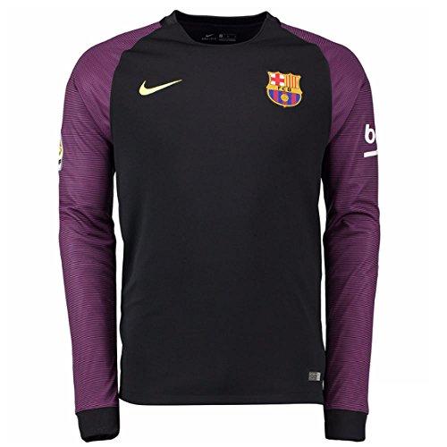 Nike FCB YTH LS GK Stadium JSY - Langärmeln T-Shirt FC Barcelona Grün - M - Jungen