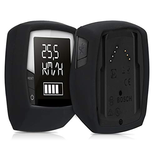 kwmobile Hülle kompatibel mit Bosch Intuvia Performance Line - Silikon E-Bike Computer Cover Case Schutzhülle - Schwarz