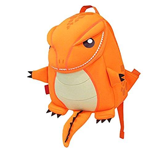 NOHOO bambini Zaini Asilo Borse bambini impermeabili spalla 3D svegli del fumetto delle ragazze dei ragazzi del bambino Duffle Borse Zoo di scuola di viaggio escursionismo zaini Zaini Arancione Drago